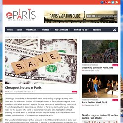 Cheapest hotels in Paris
