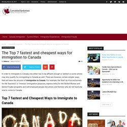 Some of the cheapest ways that can help you to immigration to Canada