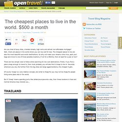 Travel pearltrees for Cheap places to live in the world