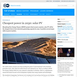 Cheapest power in 2030: solar PV