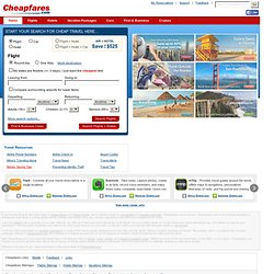 Travel, Cheap Airfare, Car, Hotels, Vacations, Cruise Deals, Discount Flights