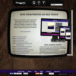 give photos an old, retro / vintage look. Free and online