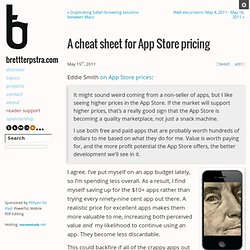 A cheat sheet for App Store pricing