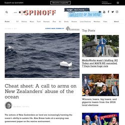 Cheat sheet: A call to arms on New Zealanders' abuse of the ocean