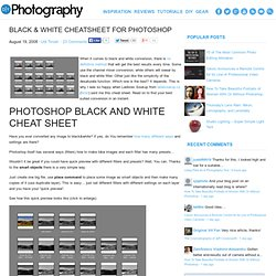 Black & White Cheatsheet For Photoshop