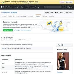 Cheatsheet · robbyrussell/oh-my-zsh Wiki