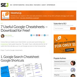 7 Useful Google Cheatsheets – Download for Free!