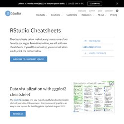 Cheatsheets – RStudio