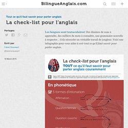 La check-list pour l'anglais · Tout ce qu'il faut savoir pour parler anglais