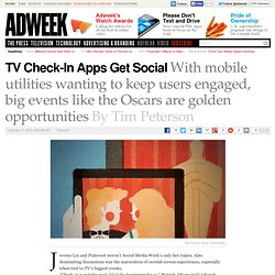 TV Check-In Apps Get Social