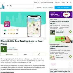 Check Out the Best Tracking Apps for Your Phone