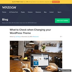 What to Check when Changing your WordPress Theme