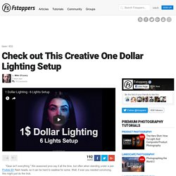 Check out This Creative One Dollar Lighting Setup