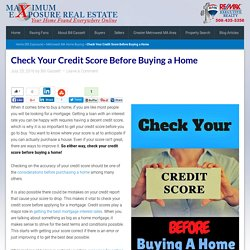 Check Your Credit Score Before Buying a Home