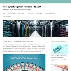 Check out All CWDM Transceiver Modules