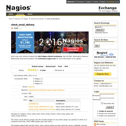 check_email_delivery - Nagios Exchange