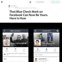 That Blue Check Mark on Facebook Can Now Be Yours. Here Is How — Life Learning