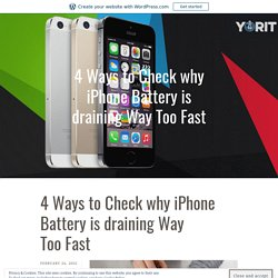4 Ways to Check why iPhone Battery is draining Way Too Fast