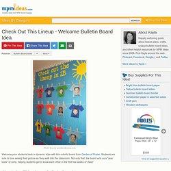Welcome Bulletin Board Idea