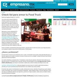 Check list para armar tu Food Truck