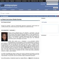 La Check List du bac d'André Giordan