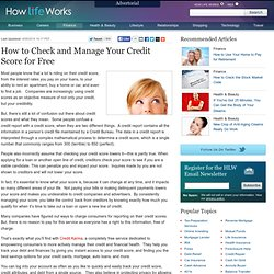 How to Check and Manage Your Credit Score for Free | How Life Works