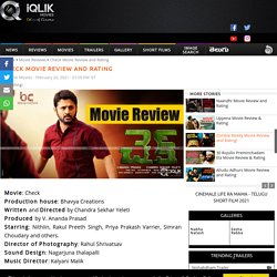 CHECK MOVIE REVIEW AND RATING