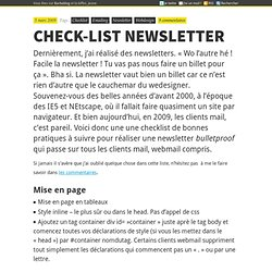 Check-list Newsletter