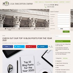 Check out Our Top 10 Blog Posts for the Year 2020