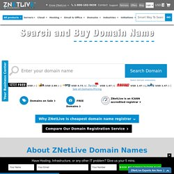 Search, Check, Register or Buy Domain Names online in India