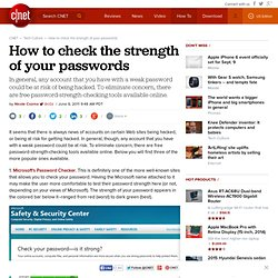 How to check the strength of your passwords