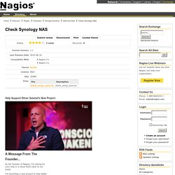 Check Synology NAS - Nagios Exchange