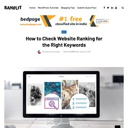 How to Check Website Ranking for the Right Keywords