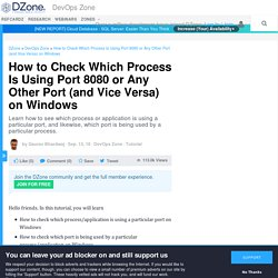 How to Check Which Process Is Using Port 8080 or Any Other Port (and Vice Versa) on Windows