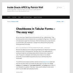 Checkboxes in Tabular Forms – The easy way!