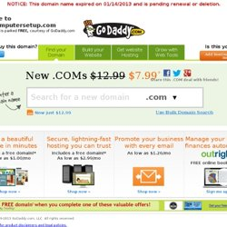 Windows XP config Steps