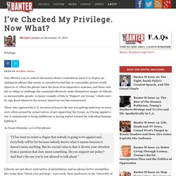 I've Checked My Privilege. Now What?