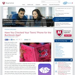 Have You Checked Your Teens' Phone for the Burnbook App? - McAfee