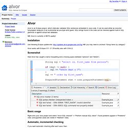 alvor - SQL checker for Eclipse