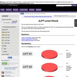 JLPT Level Check - Test your Japanese vocabulary, kanji and gram