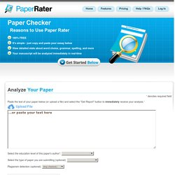 Paper Rater | Online Proofreader: Pre-grade your paper