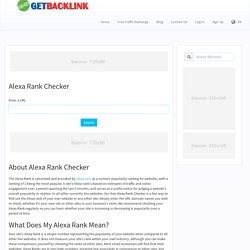 Alexa Rank Checker - Check Traffic Ranking Of Bulk Domains at Once