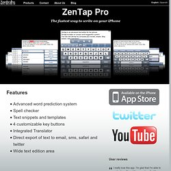 iPhone spell checker, translator, writing assistant and more: ZenTap