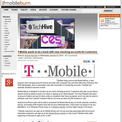 T-Mobile wants to be a bank with new checking accounts for customers