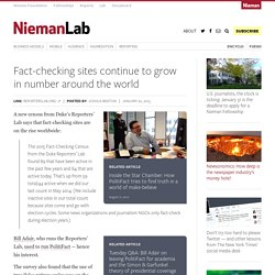 Fact-checking sites continue to grow in number around the world