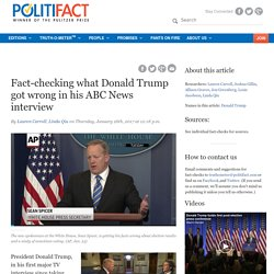 Fact-checking what Donald Trump got wrong in his ABC News interview