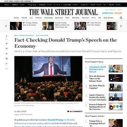 Fact-Checking Donald Trump's Speech on the Economy