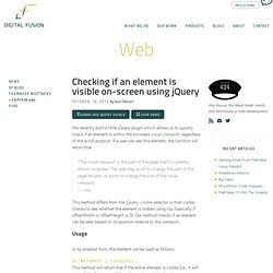 Checking if an element is visible on-screen using jQuery