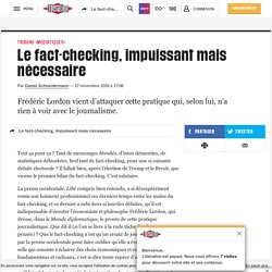 Le fact-checking, impuissant mais nécessaire