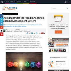 Checking Under the Hood: Choosing a Learning Management System
